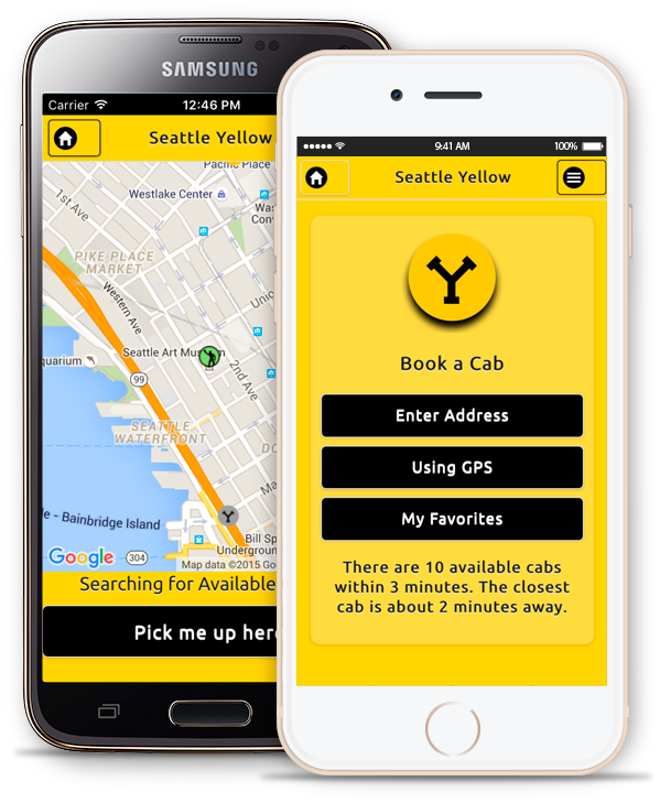 Get the Seattle Yellow Cab Mobile App | Seattle Yellow Cab